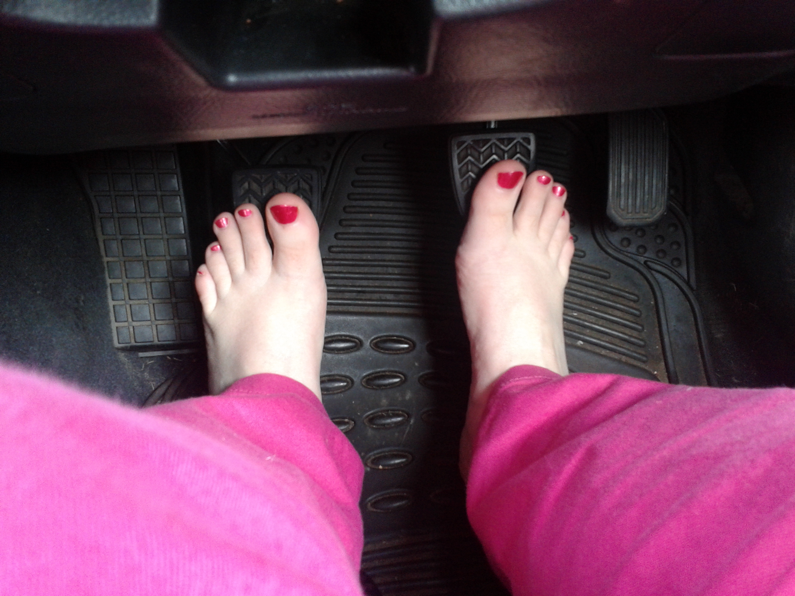 driving barefoot lucy s feet